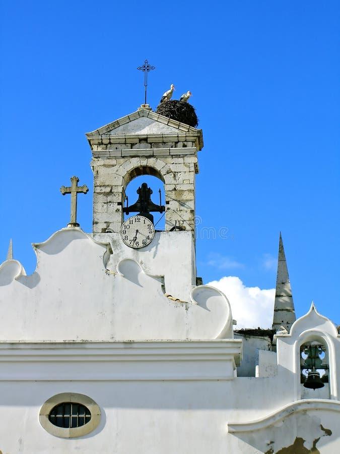 Ooievaars op Toren stock afbeelding