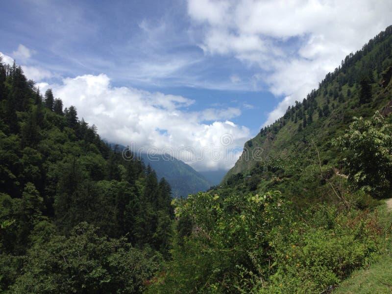 Ooit groene bergen royalty-vrije stock afbeeldingen