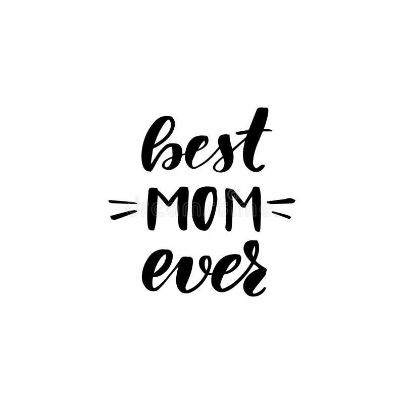Ooit van letters voorziend beste mamma royalty-vrije illustratie