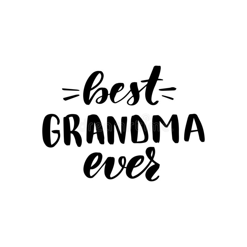 Ooit van letters voorziend beste oma vector illustratie