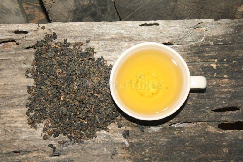 Oolong herbacianej filiżanki gorący gorący napój dla ranku obraz stock