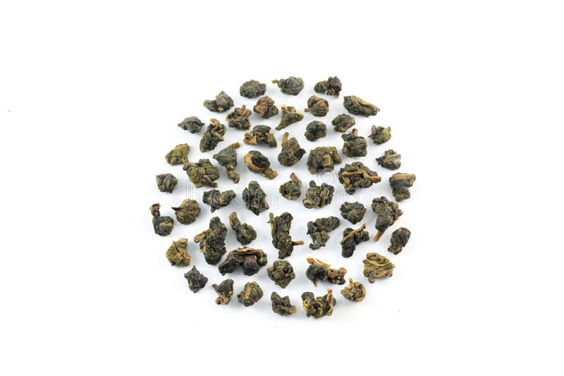 Oolong tea leaves stock images