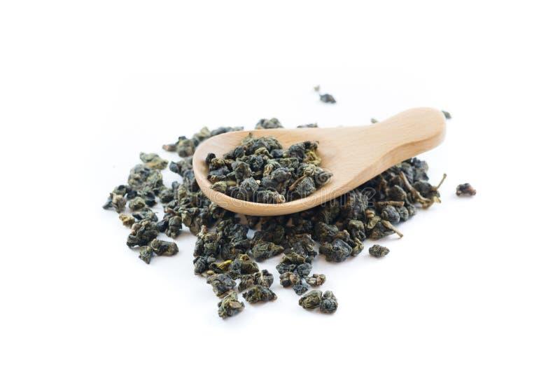 Oolong tea leaves royalty free stock image