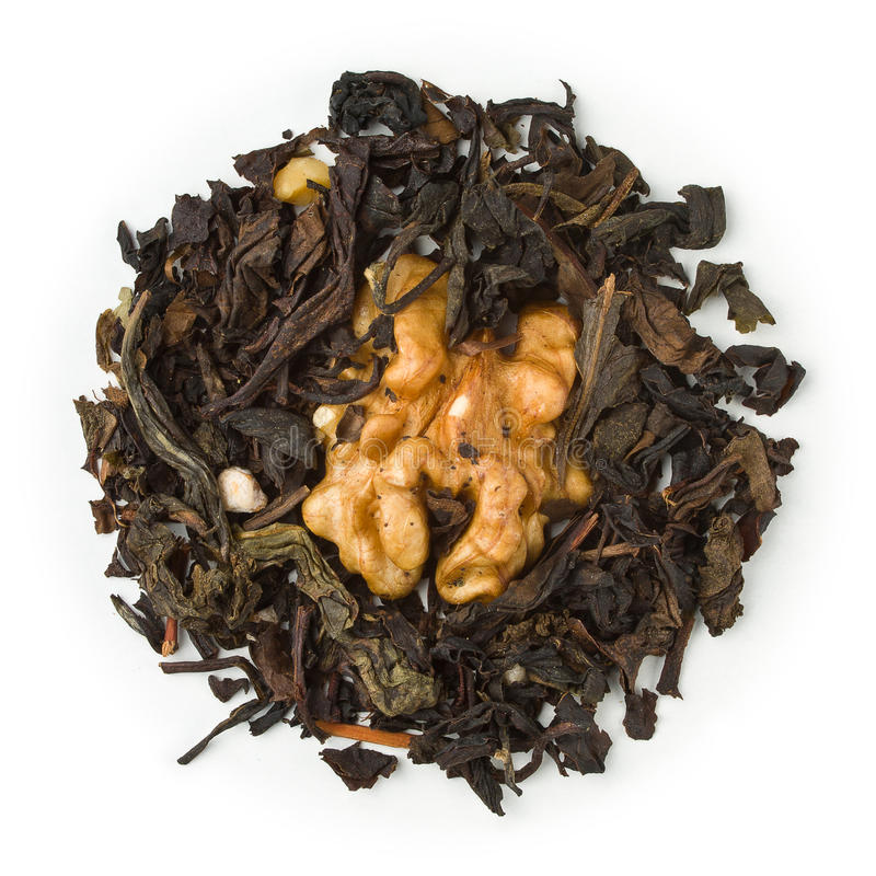 Oolong tea Maple Walnut stock image