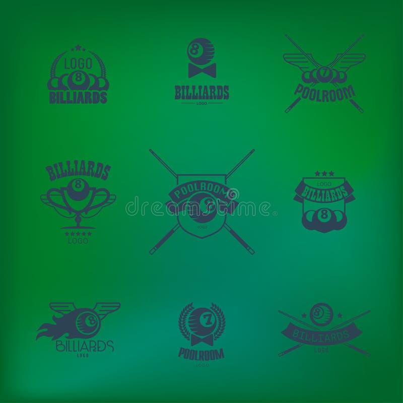 Oolroom symbolsuppsättning stock illustrationer