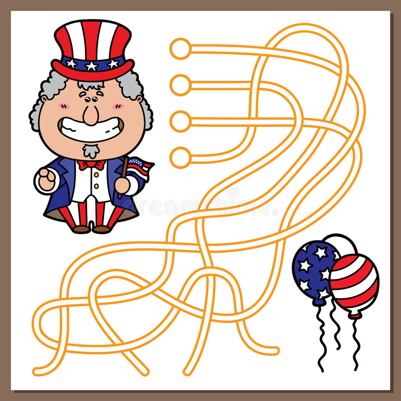 Oomsam spel stock illustratie