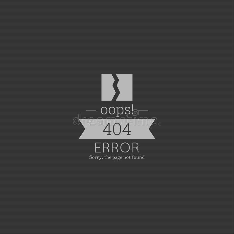 oops 404错误 抱歉,没找到的页 库存图片