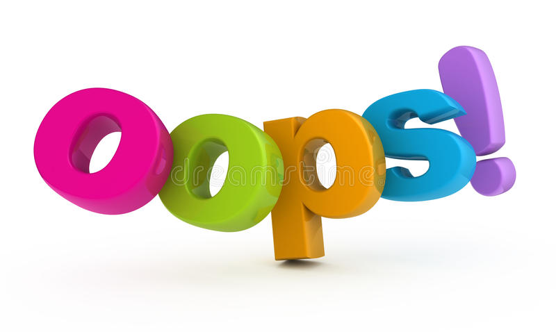 Oops ! illustration stock