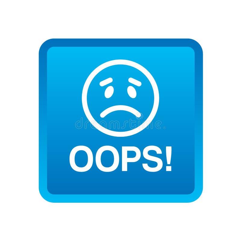 Oops botão do ícone fotografia de stock