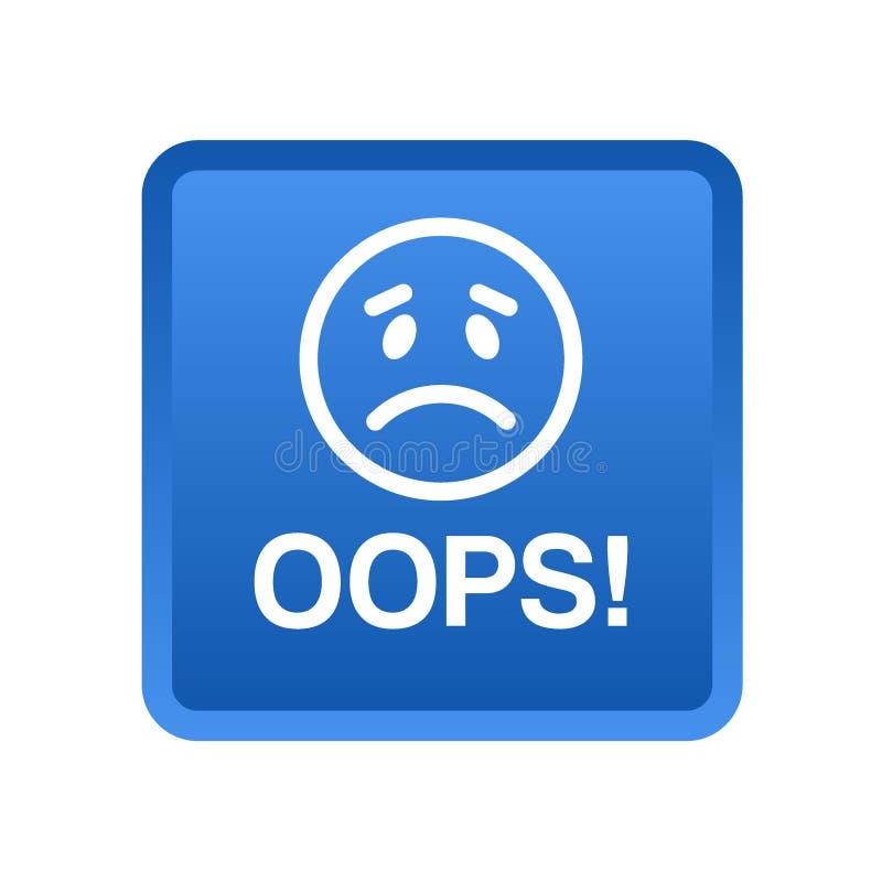 Oops botão do ícone imagem de stock royalty free