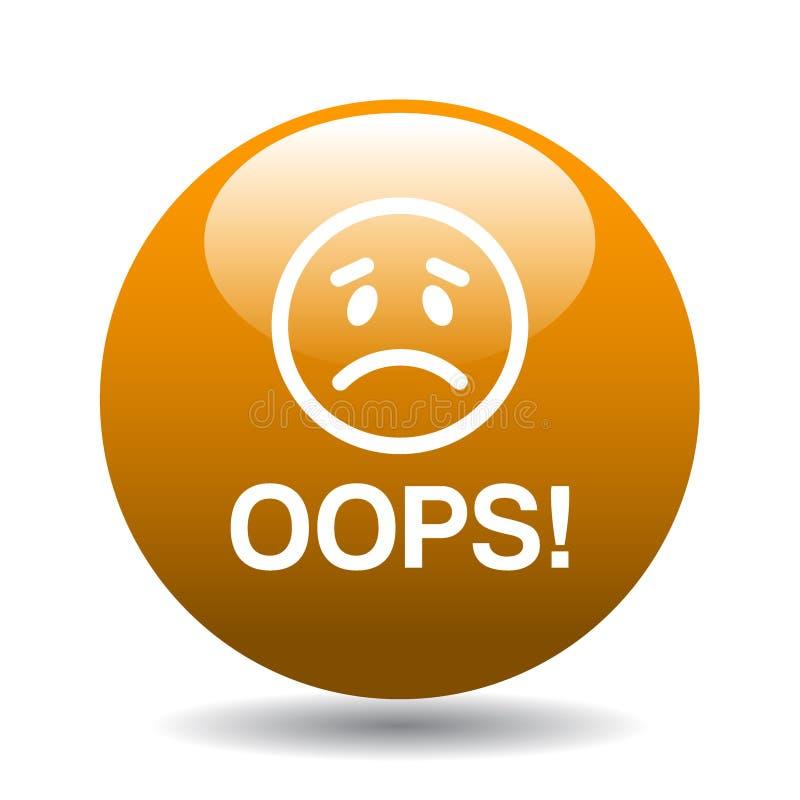 Oops botão do ícone foto de stock royalty free