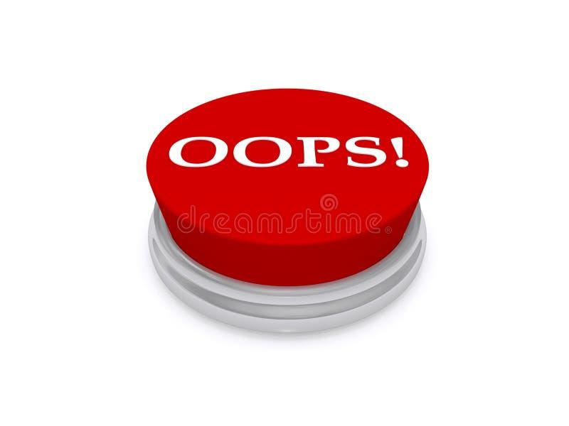 Oops bottone illustrazione di stock