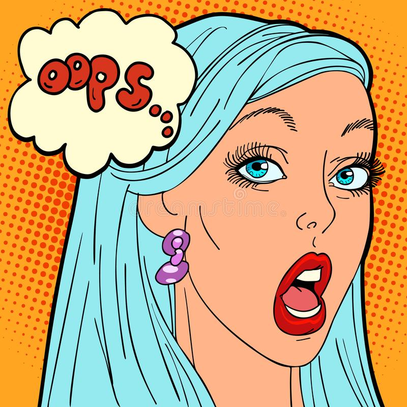Oops donna di Pop art royalty illustrazione gratis