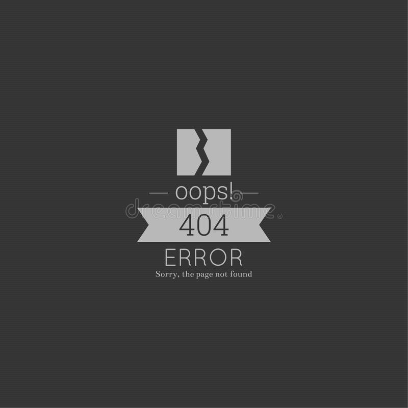 Oops. 404 error. Sorry, page not found. stock images