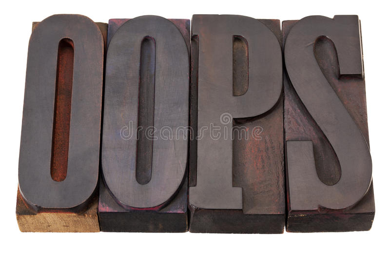 Oops Exclamation Word Royalty Free Stock Photography