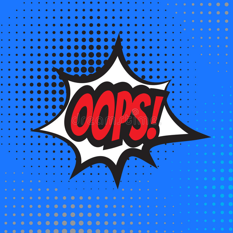 oops Explosion de bande dessinée illustration stock