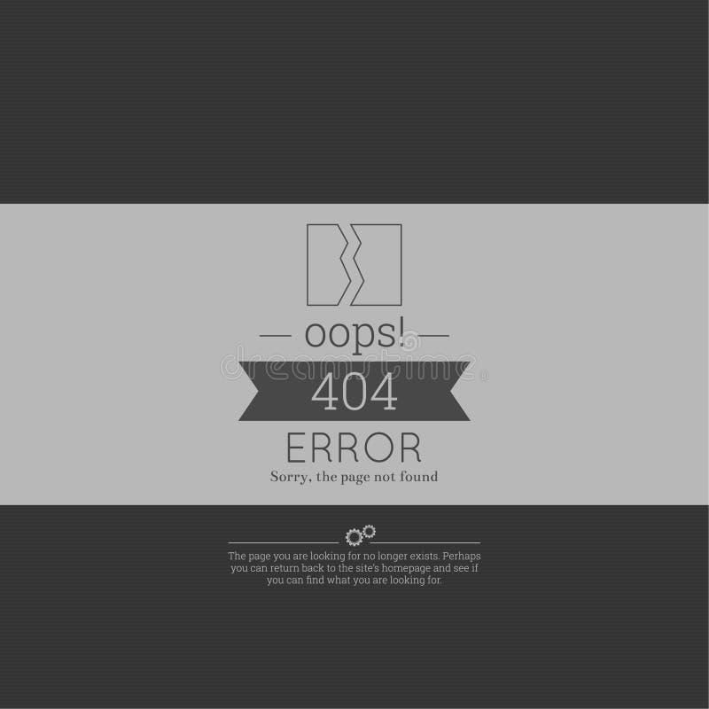 oops fel 404 Ledset inte-funnen sida royaltyfri bild