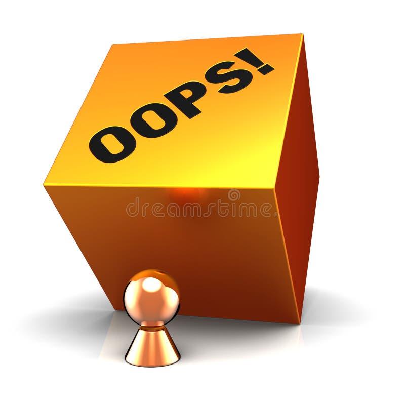 Oops! We have a problem (Hi-Res) stock illustration