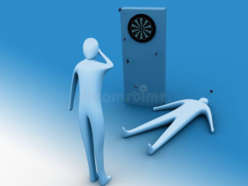 Download Oops missed! stock illustration. Illustration of miss, target - 102641