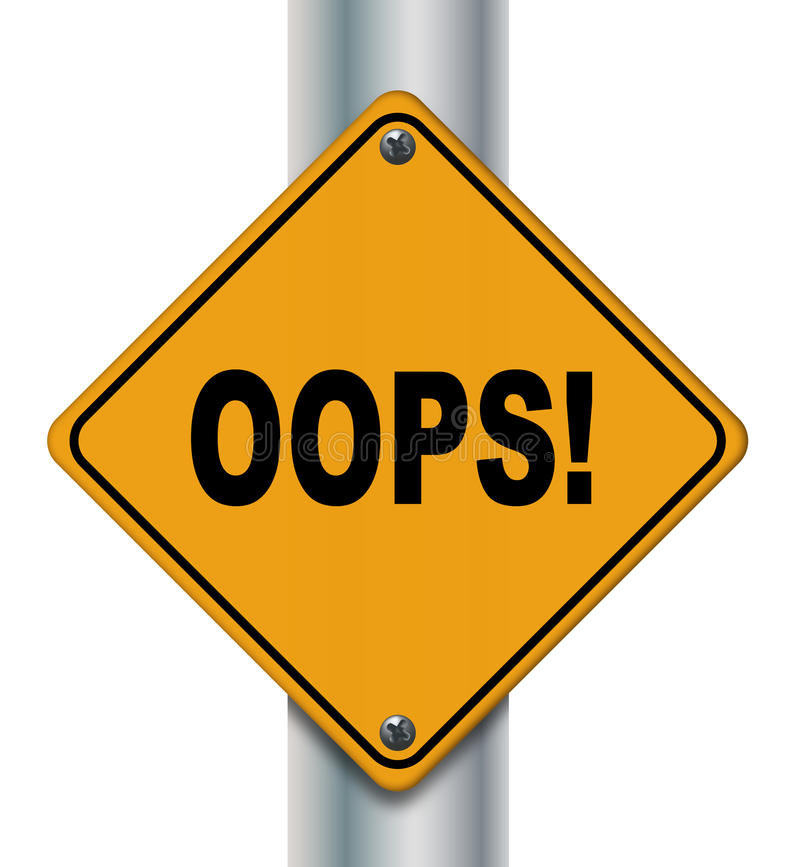 Oops! sign stock illustration