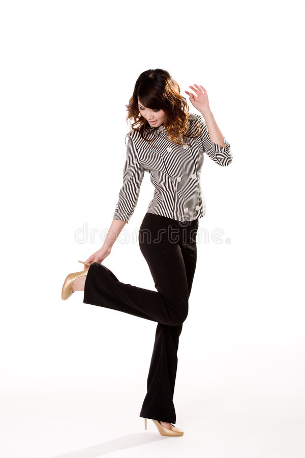 Free Oops What Happen To My Shoe Stock Photography - 4023602