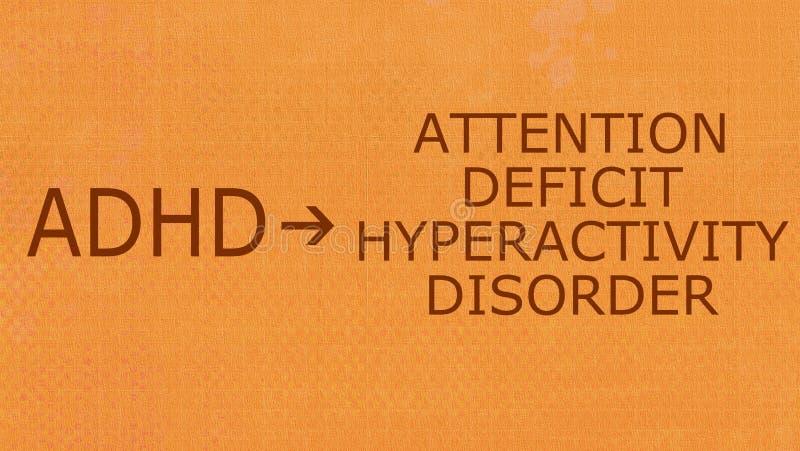 Oordning-ADHD för Hyperactivity för uppmärksamhetunderskott stock illustrationer