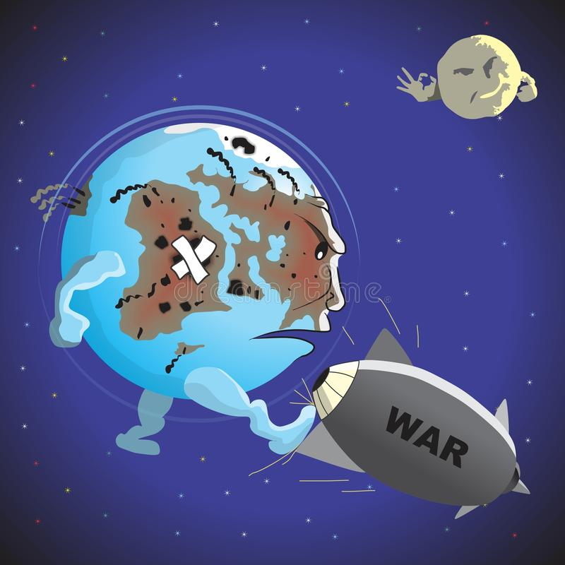 Oorlog en Vrede stock illustratie