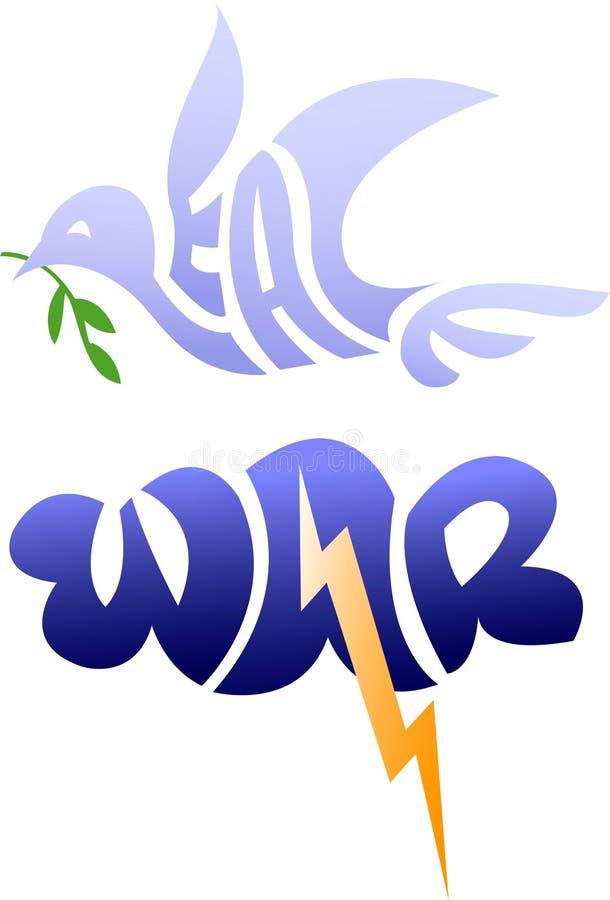 Oorlog en Vrede/eps royalty-vrije illustratie