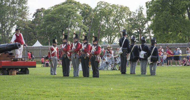 Oorlog van 1812 stock fotografie
