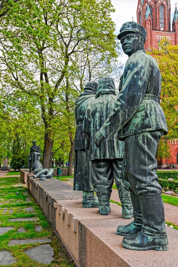 Oorlogs 1939-1944 gedenkteken in Pori, Finland stock foto