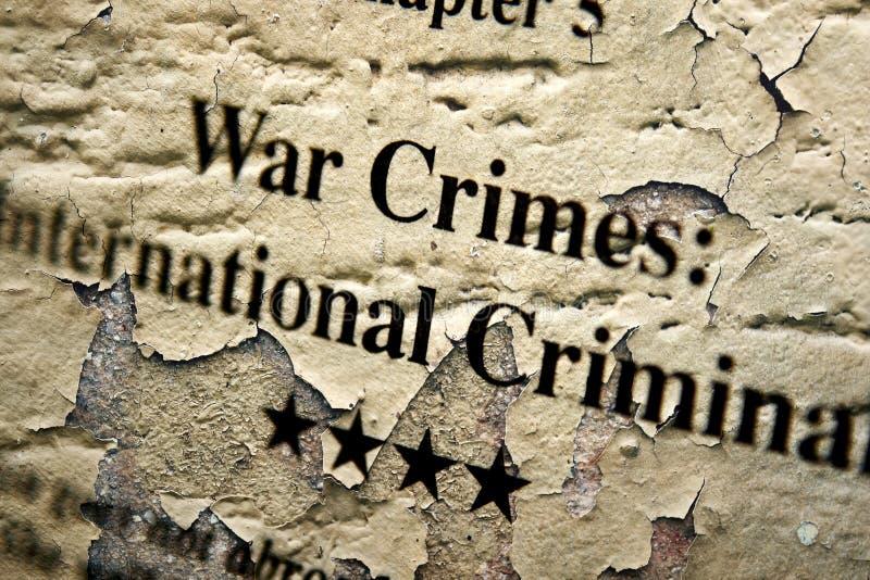 Oorlogs internationale misdaden stock foto