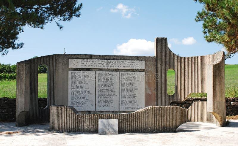 Oorlogsgedenkteken in Lindar stock foto's