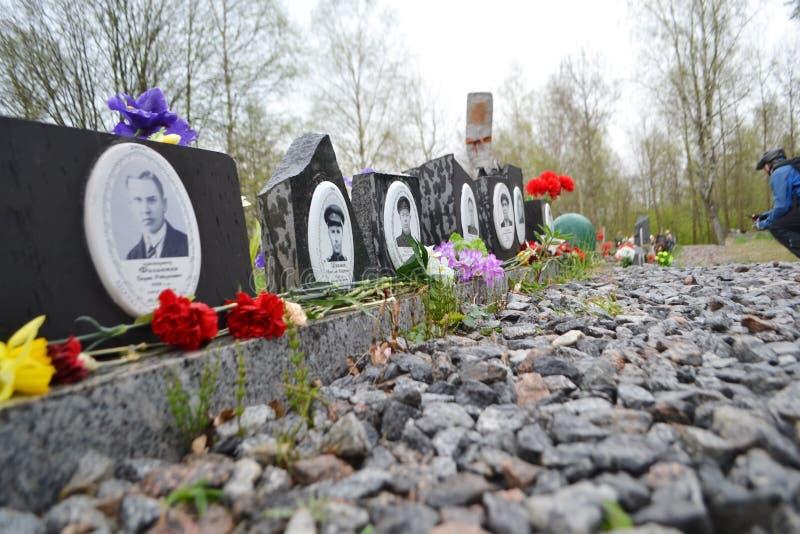 Oorlogsgedenkteken op Sinyavino-Hoogten stock fotografie