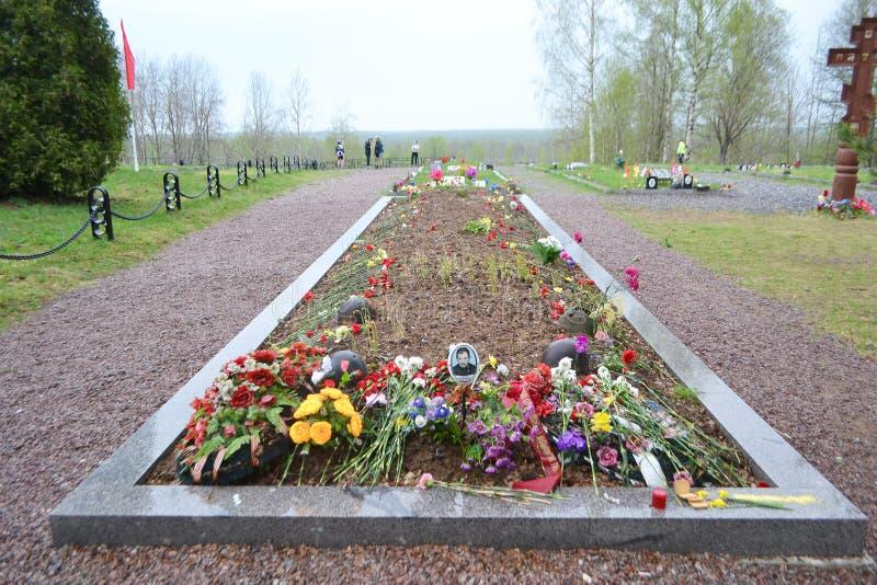 Oorlogsgedenkteken op Sinyavino-Hoogten royalty-vrije stock foto