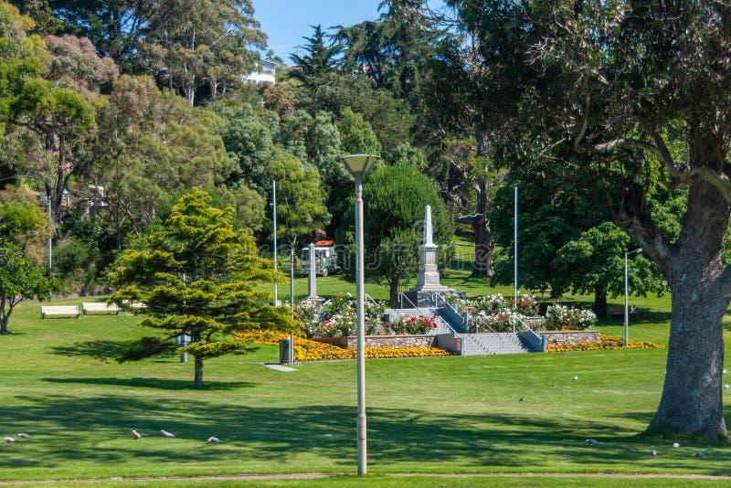 Oorlogsgedenkteken voor een deel in Burnie, Tasmanige, Australië stock afbeelding