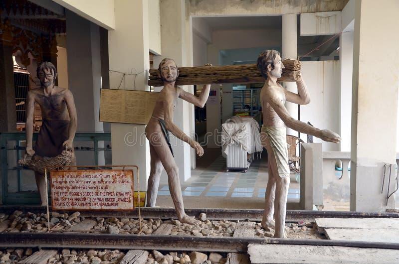 Oorlogsmuseum in Kanchanaburi, Thailand royalty-vrije stock fotografie