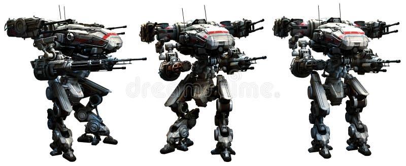 Oorlogsrobots vector illustratie