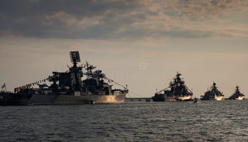 Oorlogsschepen royalty-vrije stock afbeeldingen