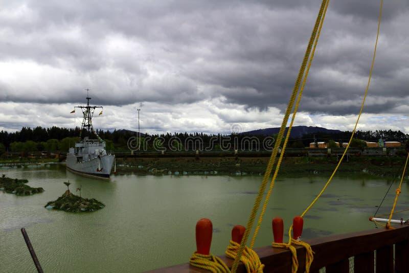oorlogsschip royalty-vrije stock afbeelding