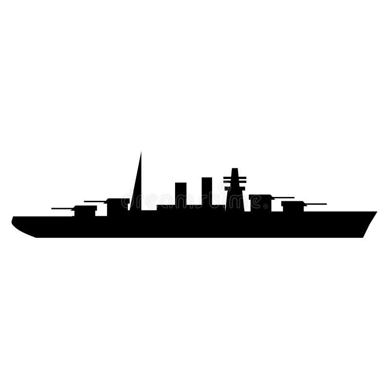 Oorlogsschip eenvoudig pictogram vector illustratie