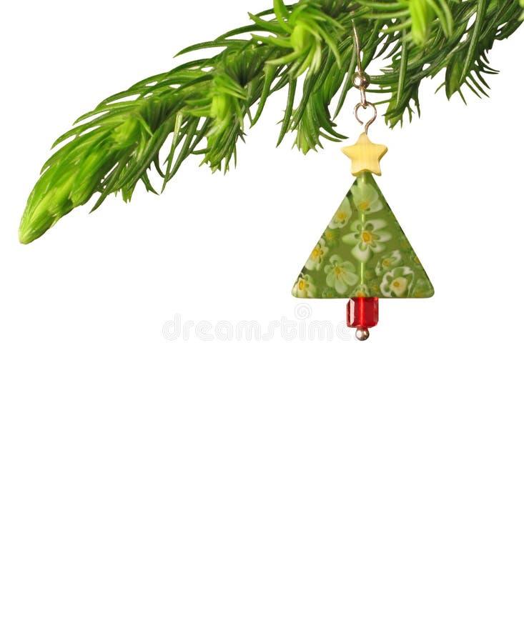Oorring als decoratio van Kerstmis royalty-vrije stock fotografie