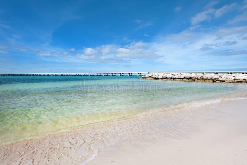 Oorspronkelijk zandig strand stock fotografie