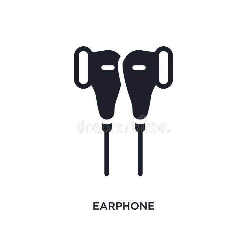 oortelefoon geïsoleerd pictogram eenvoudige elementenillustratie van de elektronische pictogrammen van het apparatenconcept het t royalty-vrije illustratie