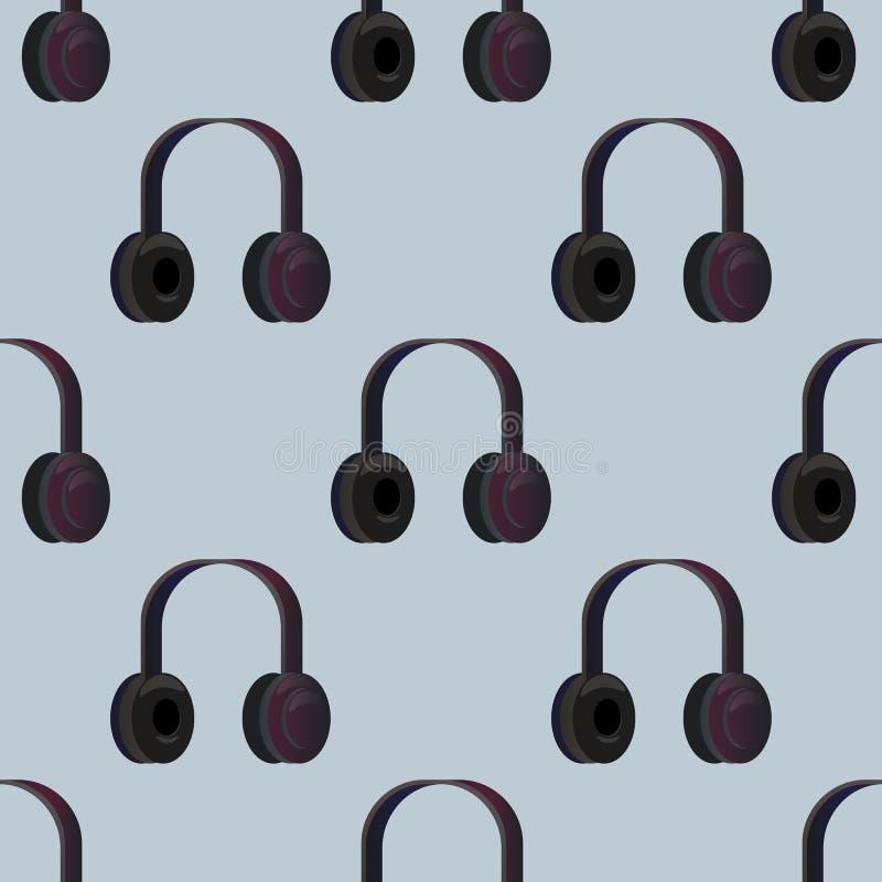 Oortelefoon vectorpatroon stock illustratie