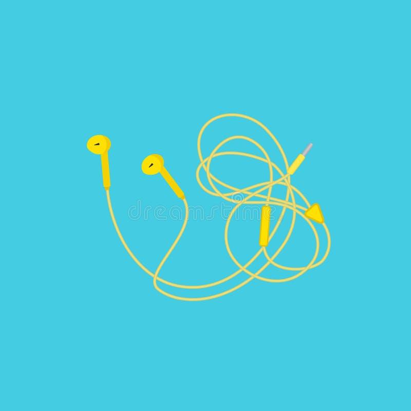 Oortelefoons met draad vector illustratie