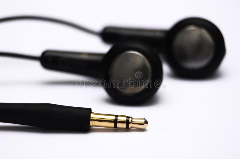 Oortelefoons met hefboom stock fotografie