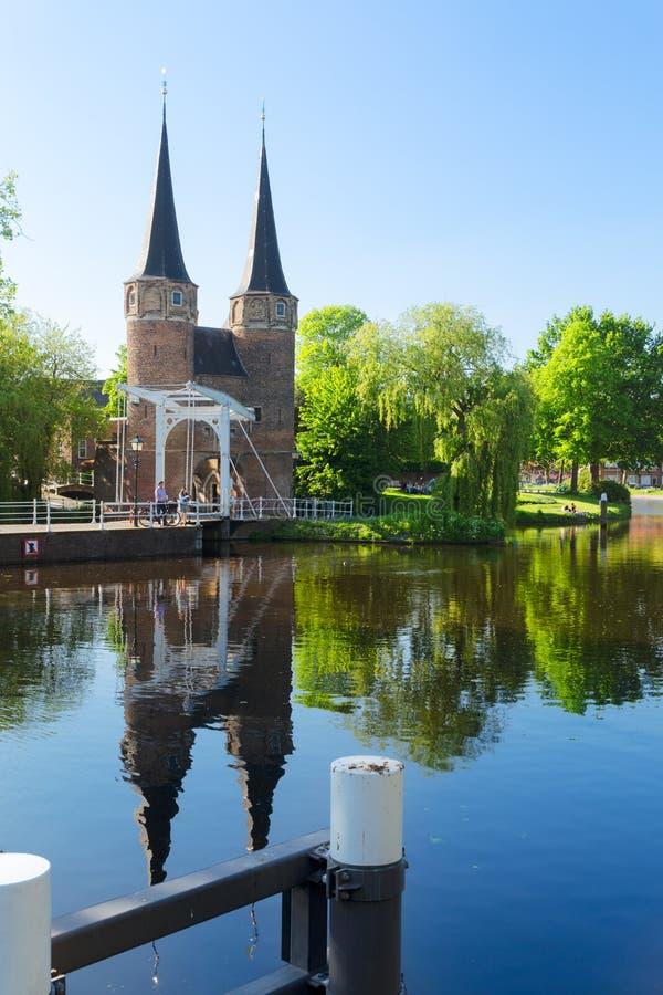 Oosrpoort gate in Delft, Netherlands royalty free stock image