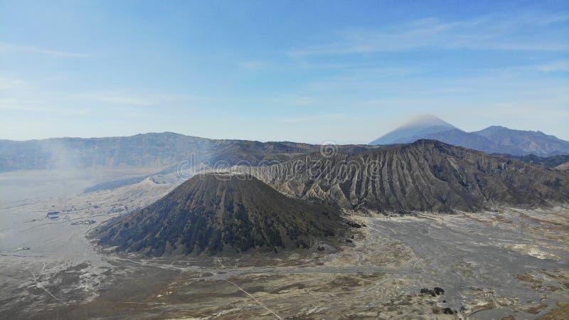 Oost-Java, Indonesië Zet Bromo Gunung Bromo op, is actieve vulkaan stock fotografie