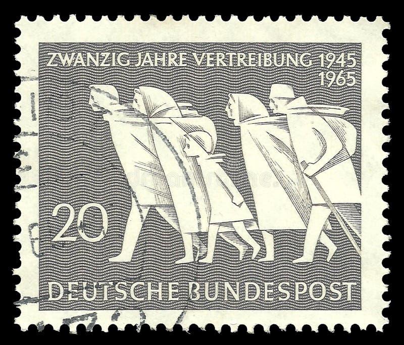 Oostduitse Vluchtelingen stock afbeeldingen