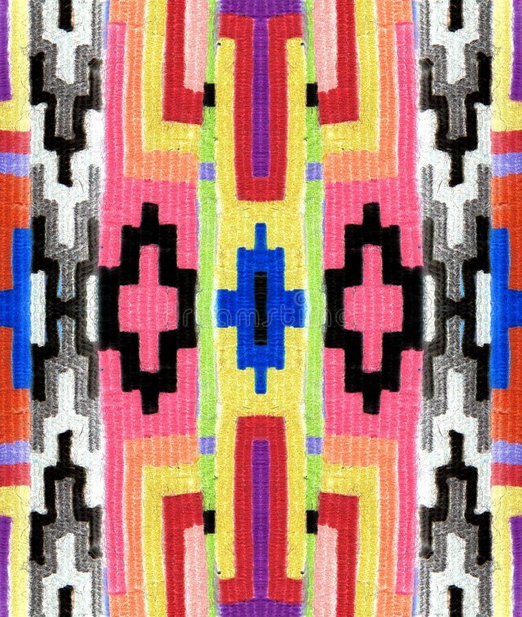 Oostelijk geometrisch patroon op de stof stock foto's